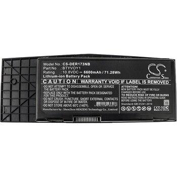 Cameron Sino 6600mAh Battery For DELL Alienware M17x R3 Alienware M17x R3-3D Alienware M17x R4,BTYVOY1