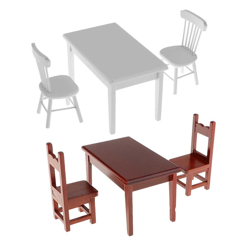 1//12 Miniatura Tavolino da caffè Legno Bianco Mobili Arredo Casa Bambole