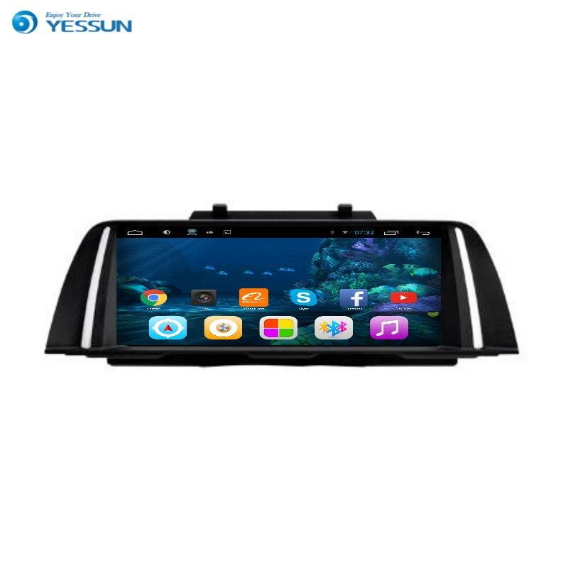 Lecteur DVD de voiture Radio Android YESSUN pour BMW F10 2013 ~ 2016 radio stéréo multimédia navigation GPS avec WIFI Bluetooth AM/FM