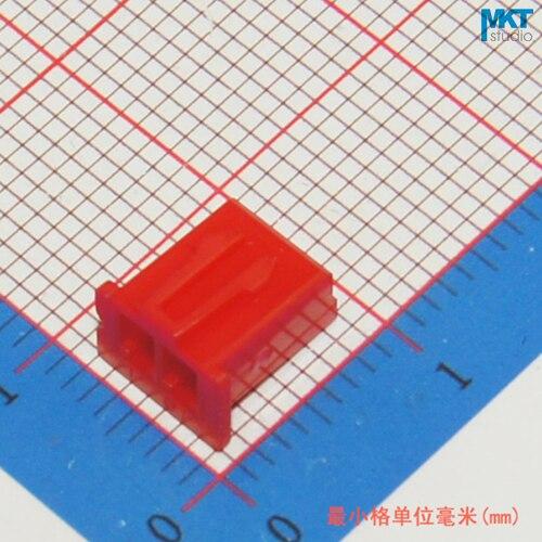 1000Pcs Red XH2.54 2P 2.54mm Pitch PCB Female Box Header Bar Connector, Pin Header Plug