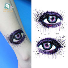 Rocooart Large Eyes Design Waterproof Temporary Tattoo Stickers Women Men Fake Tattoo Tatouage Taty Henna Tatoo For Hand Back(China)