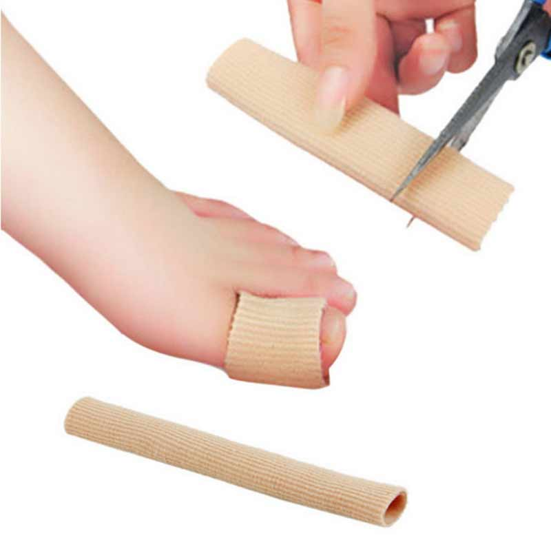 1Pcs Finger Toe Separator 15CM Foot Pain Relief Guard Feet Care Insoles Cover Fabric Gel Tube Bandage Calluses Pedicure Tools