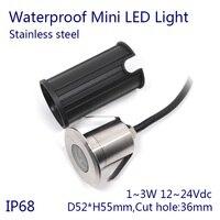 3 W LED Piscina Luz Subaquática IP68 À Prova D' Água Da Lâmpada Paisagem Quente/Frio/Nature Branco  RGB DC12 ~ 24 V 100-130Lm