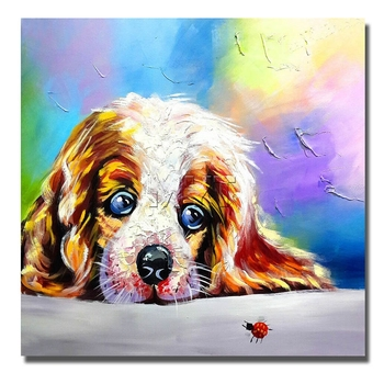 Animal Wall Decor On Canvas Painting  Home Decoration  For Living Room Oil Painting Cotton Canvas With Framed High Quality