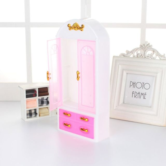 ¡Oferta! nuevo armario de muñeca muebles de princesa para dormitorio accesorios de muñeca para muñecas Barbie Dec17