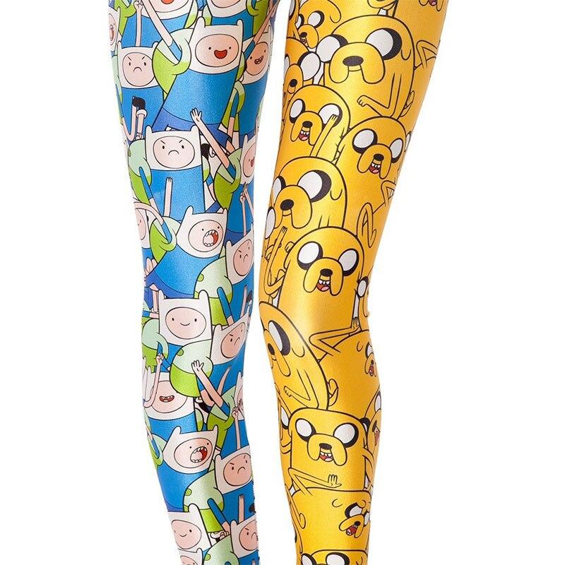 Cartoon   Leggings   Women   Leggings   Women Galaxy Printed Adventure Time Elastic Fitness   Leggings   Workout