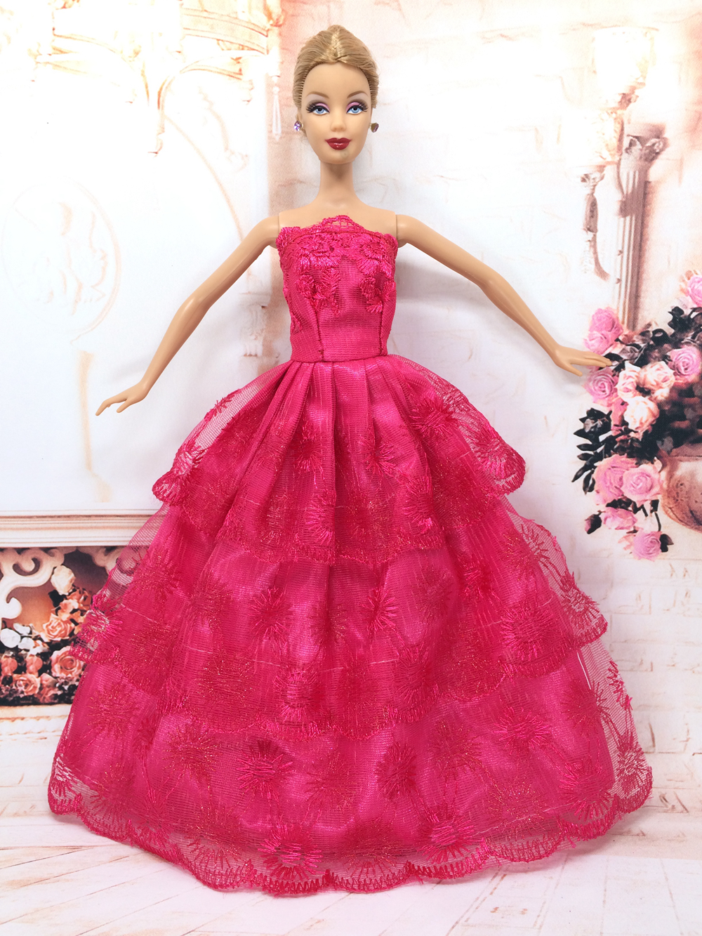 Nk One Pcs Princess Doll Wedding Dress Noble Party Gown