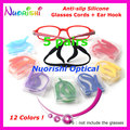 5 sets T2810 High Quality Silicone Sports Sunglass Glasses Cord Lanyard and Ear Hook Temple Tip Holder Kit Free Shipping