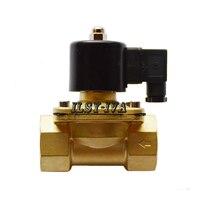 Two Way DN32 DC12V DC24V Brass Moistureproof Electromagnetic Valve