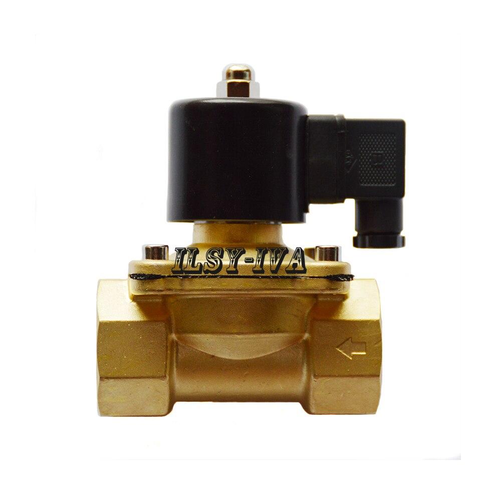 Two way DN32 DC12V/DC24V brass Moistureproof electromagnetic valve