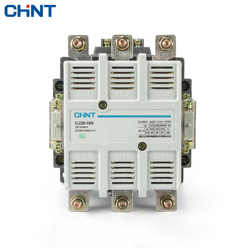 CHINT AC Contactor Two Normally Open Two Normally Closed CJ20-160 36V 110V 220V 380V