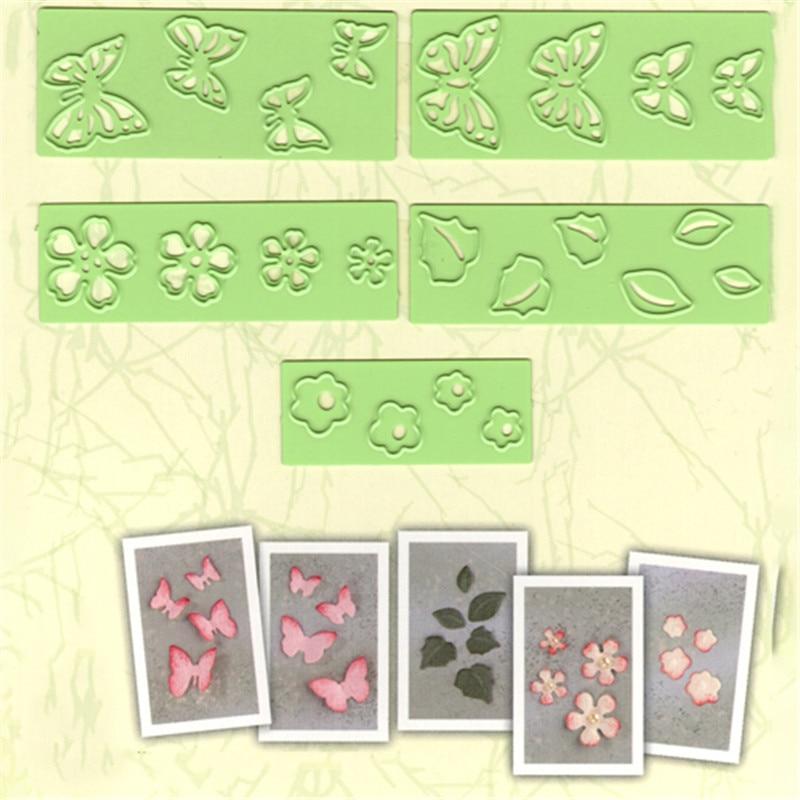 YaMinSanNiO Butterlies  Flower Die Metal Cutting Dies for Card Making Scrapbooking Craft Embossing Cuts Stencil Frame