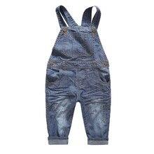 Printemps et D'été Coréenne Mode et Élégant/Simple Mignon Heureux Enfant Denim Pantalon/Salopette