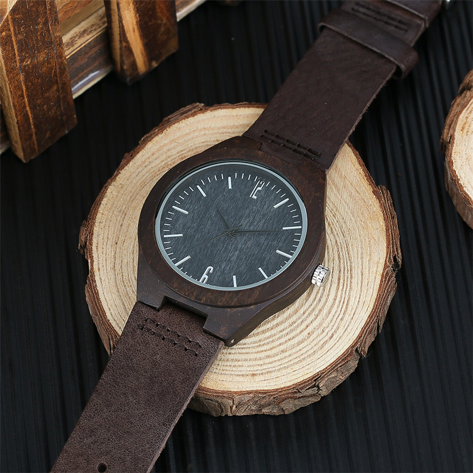 coffee color wood watch casual men11