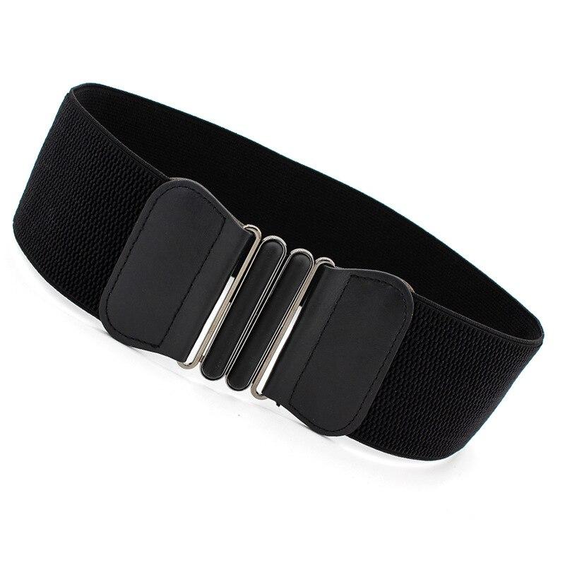 7.5cm Width 65cm Long Waist Belt Fashion Waist Belts Lady Solid Stretch Elastic Wide Belt Dress Adornment For Women Waistband