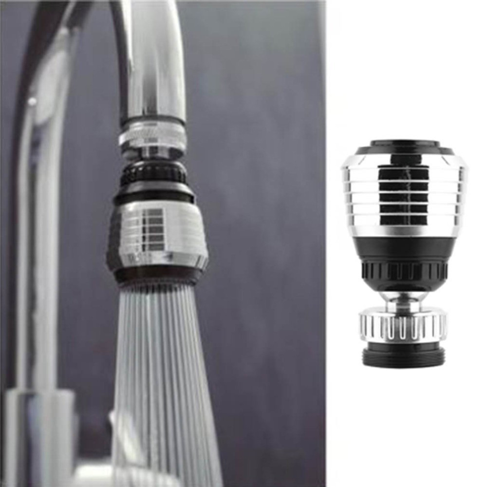 New 360 Swivel Water Saving Tap Rotate Faucet Nozzle Filter Adapter Tap Aerator Diffuser Kitchen Brand New 1 2 bsp male x 1 5 tri clamp 304 stainless steel pipe fitting connector for homebrew with hex nut