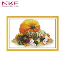 NKF Cross Stitch Kits Embroidery Needlework Set DMC 11CT 14CT DIY Handmade Kit Pumpkin Pattern Printed