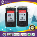 Twin Pack BLACK  Printer Inkjet Cartridges for canon PG510 For PIXMA IP2700 MP250 MP230 Ink Cartridge