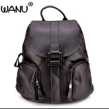 Wanu Модельер из овечьей кожи Для женщин рюкзак шнурок Школьные сумки для подростков Обувь для девочек женские туристические рюкзаки сумки