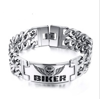 Amazon BIKER Bracelets Hot Selling Models In Europe And America Skull Bracelet BR 130S
