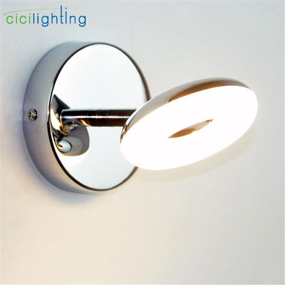 New 5W LED Vanity Lights High Quality Stainless Steel Adjustable LED Bathroom Mirror Front Lamp Vanity Toilet Wall Light