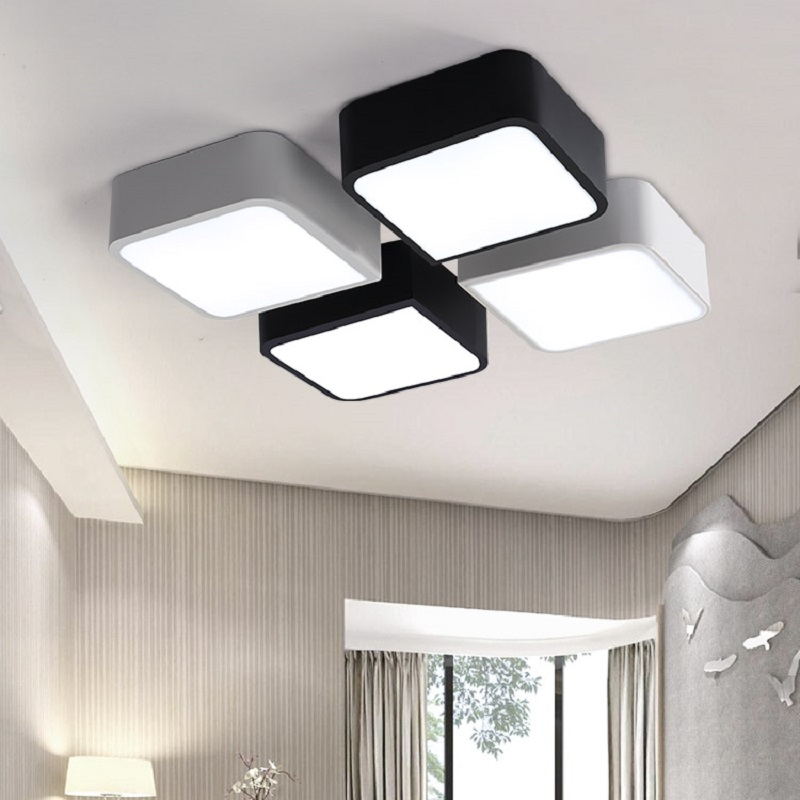 buy new modern rectangle led ceiling light diy home living room bedroom. Black Bedroom Furniture Sets. Home Design Ideas