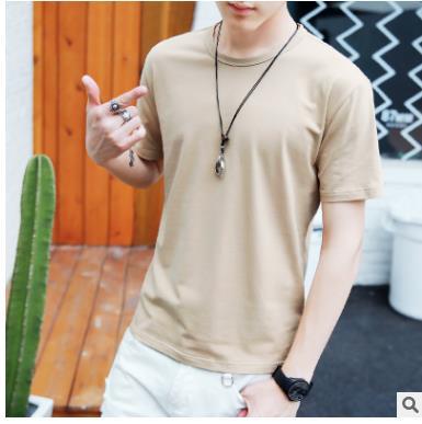 2018 Solid color T Shirt Mens Black White T-shirts Summer Skateboard Tee Boy Hip hop Skate Tshirt Tops WQ-19