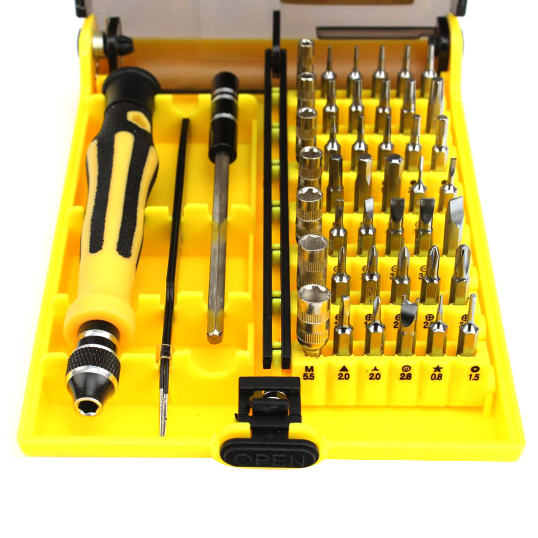 цена на Professional Torx Screwdriver Set 45 in 1 Precision For Watch Computer for iPhone Samsung Smart Phone Repair Dismantle Tools