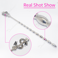 Male Stainless Steel Urethral Dilators Catheters Sounds Plug Kit Penis Inserts Anal Plug Sounding Chastity Adult Sex Toy For Man