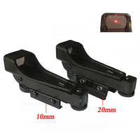 Free Shipping Tactical Reflex Sight Red Dot Sight Scope Wide View Airgun 10 Or 20mm Weaver