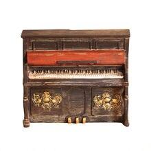家の装飾レトロピアノ貯金箱ヴィンテージzakaka貯金箱節約コイン貯金箱安全コイン貯金箱子供のためおもちゃギフト