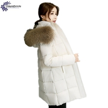 TNLNZHYN Women clothing high-end Cotton coat winter new fashion loose Large size female Thickening warm Cotton Outerwear QQ475