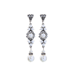 KISS ME Simple Simulated Pearls Earrings for Party New Popular Elegant Fashion Women Jewelry Accessories