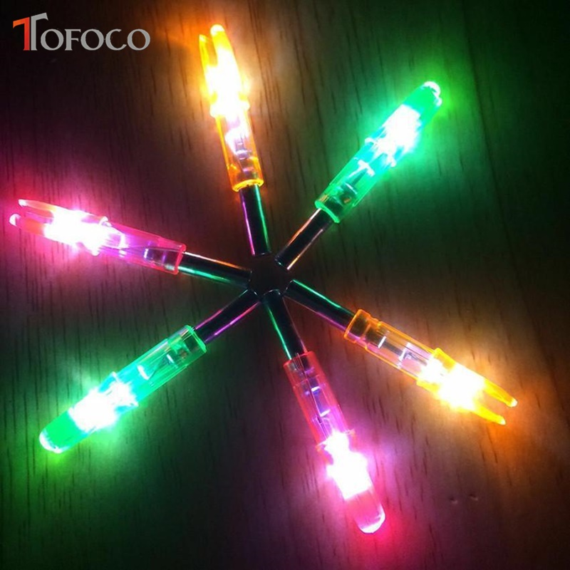 TOFOCO 3Pcs Automatically LED Arrow Nock for Compound Bow Croosbow Outdoor Hunting Lighted
