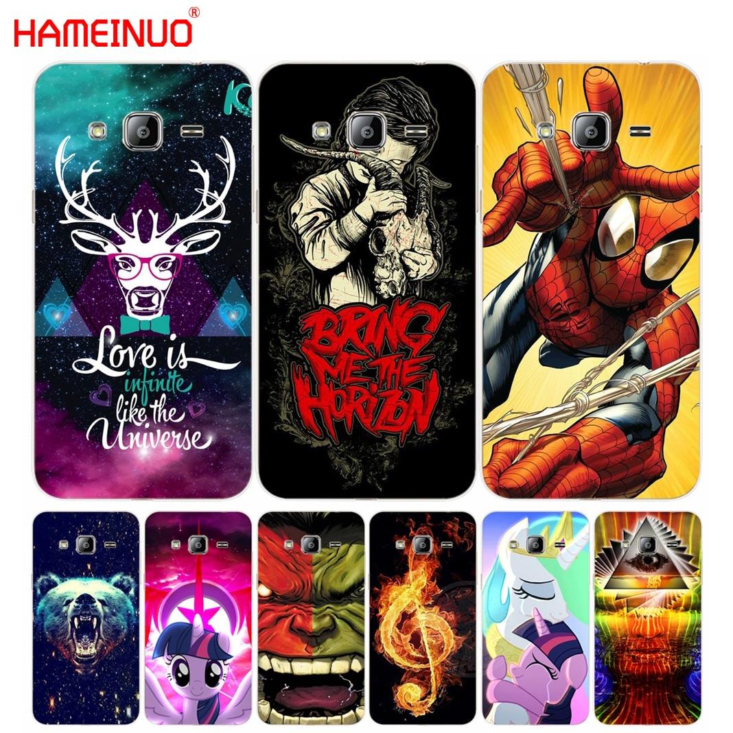 HAMEINUO coloer cartoon <font><b>Spider</b></font> <font><b>Man</b></font> unicorn cover phone case for <font><b>Samsung</b></font> <font><b>Galaxy</b></font> J1 J2 J3 J5 J7 <font><b>MINI</b></font> ACE 2016 2015