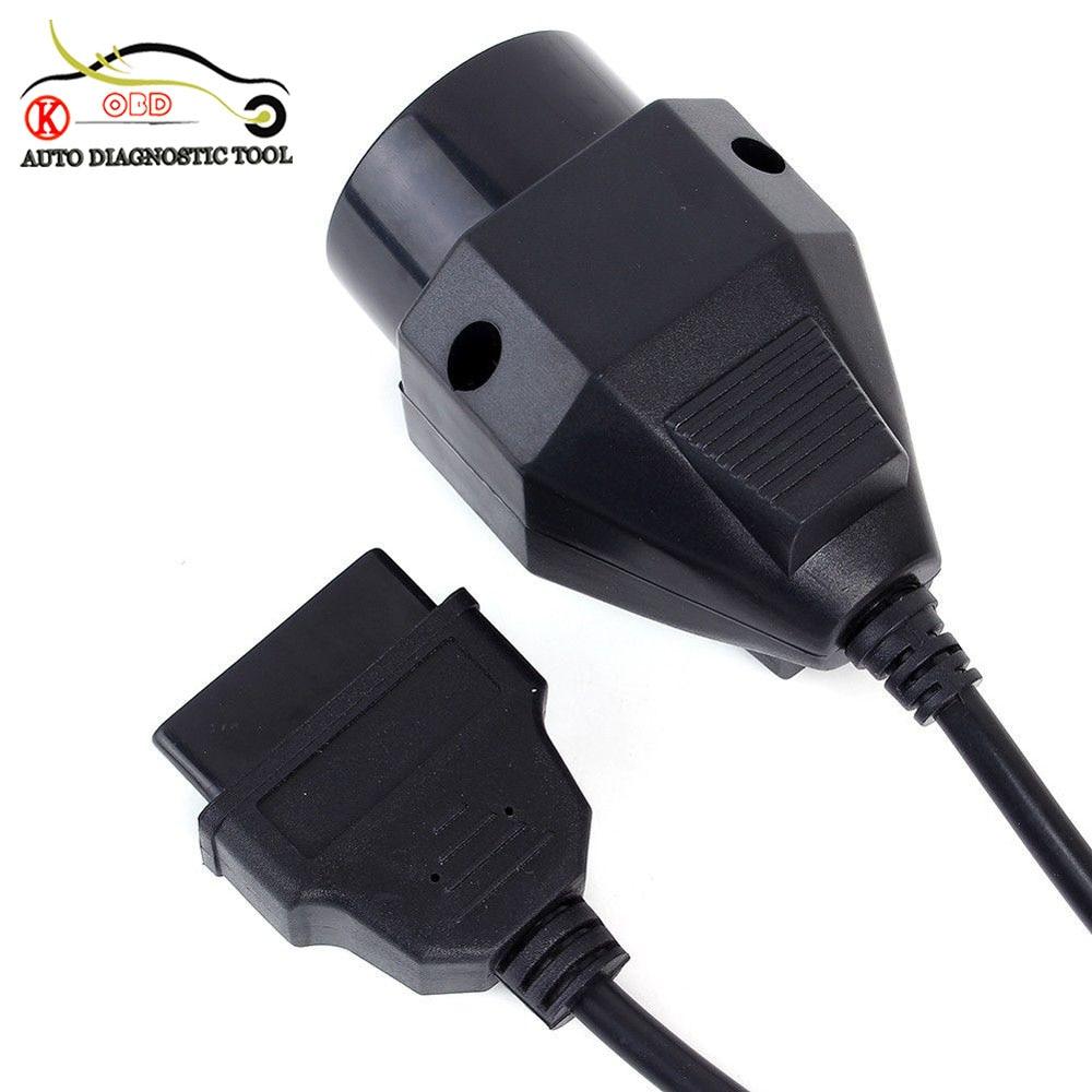 KWOKKER 10 stücke Für bmw 20 pin Stecker AUF 16PIN Female OBD2 Kabel Auto Auto Diagnosestecker 20pin Adapter kabel