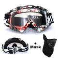 Graffiti Motorcycle Goggles Motocross ATV Off Road Goggles Eyewear Sports Clear Glasses for Helmet With Mask