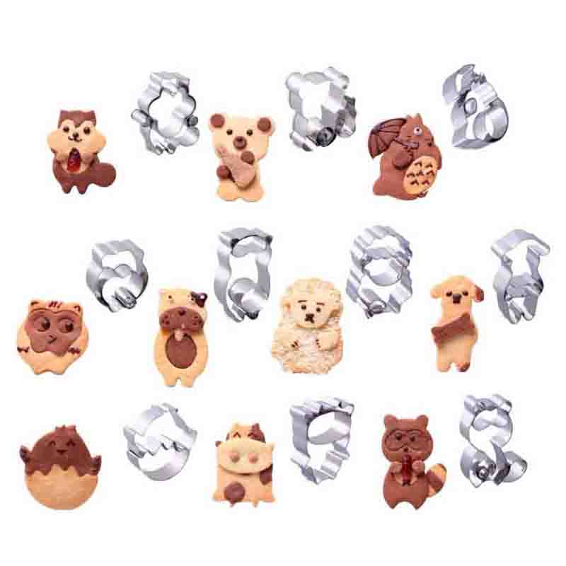 wholesale online factory outlet wholesale dealer US $1.43 20% OFF|Combined Animal Cookie Cutters Stainless Steel Cute Animal  Candy Shape Biscuit Mold DIY Fondant Pastry Decorating Baking Tools-in ...