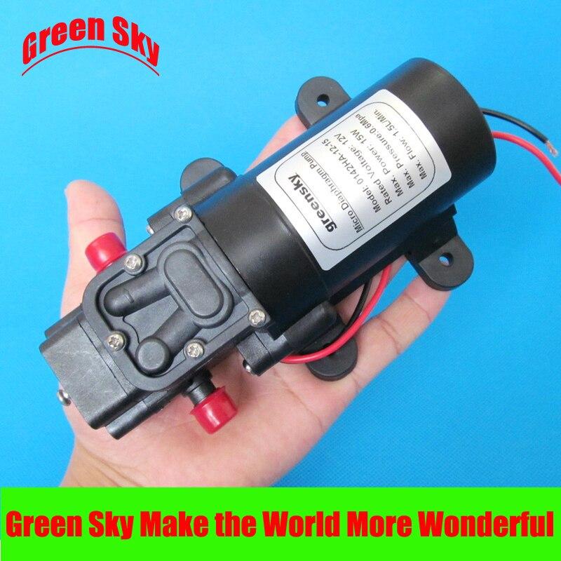 15W return valve type 1.5L/min DC 12v water pump high pressure popular sale 30w small diaphragm return valve type 12v high pressure water pump