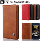 K'try Cover Case For Asus Zenfone Max ZC550KL Flip PU Leather Wallet Case For Asus ZC550KL 5.5'' With Card Holder Stand Design