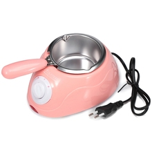 """Электрическая машина для расплавления шоколада и конфет, кухонный инструмент """"сделай сам""""-розовая вилка европейского стандарта"""