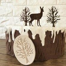 DIY Cake Border Silicone Molds Tree Cupcake Fondant Cake Decorating Tools Chocolate Soap Gumpaste  Scrapbook Embellishmen Moulds