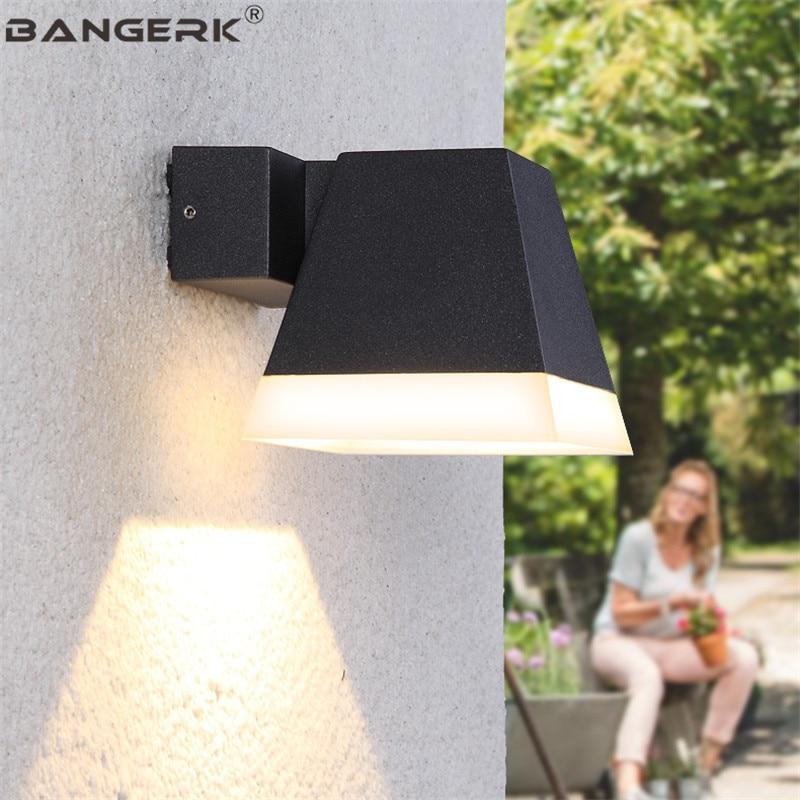 A LED per esterni Lampada Da Parete 5 W IP65 Impermeabile Moderna Riparo Della Parete Luci del Giardino Cortile Complementi Arredo Casa Alluminio Apparecchi di Illuminazione - 5