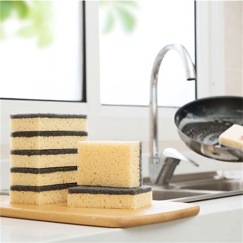 1/6Pcs Combination Double-sided Magic Sponge For Washing Dishes Kitchen Scouring Pad Decontamination Cleaning Brush Supplies