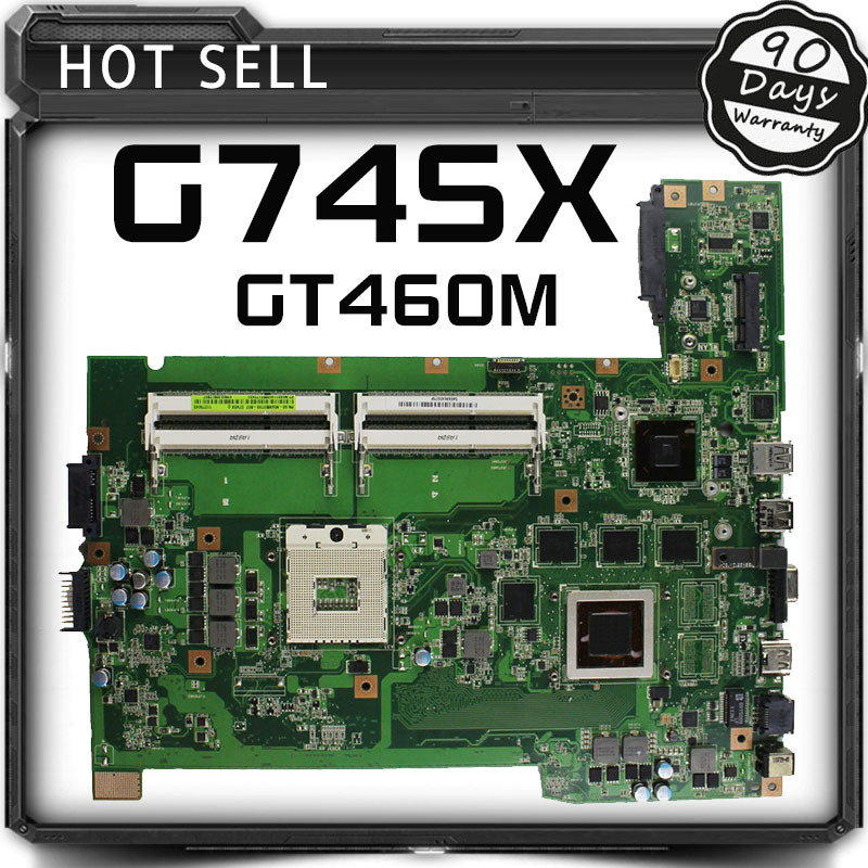 все цены на  G74SX for asus rev 2.0 notebook motherboard 2D connector 8 memory GT460M original new free shipping  онлайн