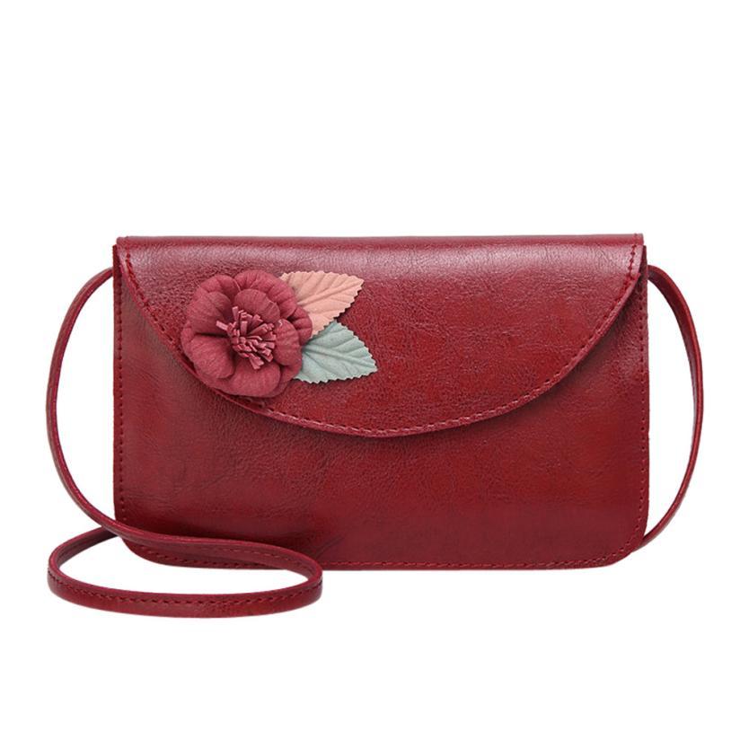 Новейшие модные женские цветок кожа сумка через плечо сумка женская сплошной цвет пряжки небольшой площади сумка # F