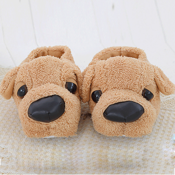 Women Anime Cartoon Dog Slippers Lovers Warm Indoor Woman Slippers Plush Shoes Girl Home Pantufas House Ladies Slippers Children 1