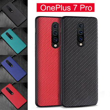 Pohiks High Quality Capa For OnePlus 7 Pro Shockproof Hybrid Carbon Fiber + TPU PC Matte Case Cover Oneplus pro