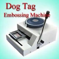 Lowest Price !52Code Dog tag embossing machine, Manual GI Military Steel Metal PET Dog Tags Embosser ID Card Printer Machine