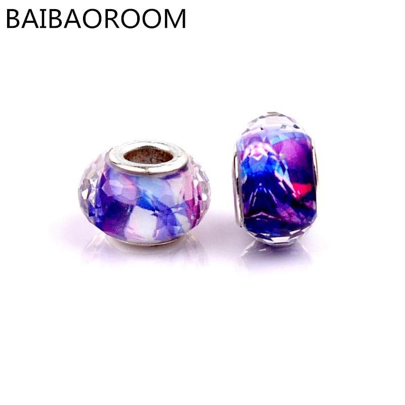 1PCS Aliexpress best sell sky pattern resin DIY beads fit pandora bracelet accessories